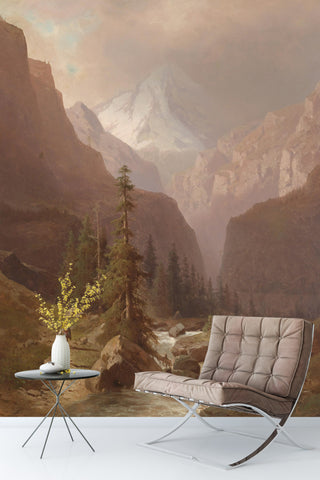 3D Remote Mountains Oil Painting Wall Mural Wallpaper 89
