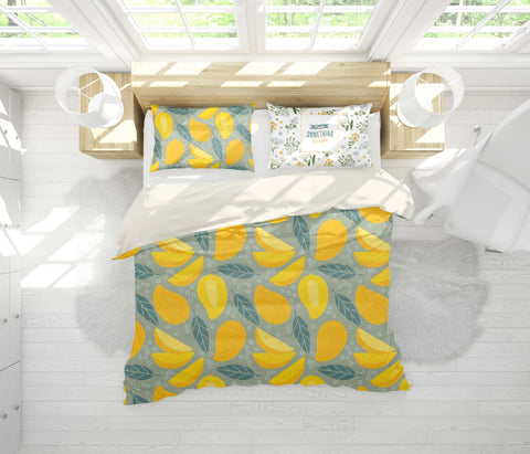 3D Yellow Mango Quilt Cover Set Bedding Set Pillowcases 51