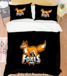 3D Red Fox Pattern Quilt Cover Set Bedding Set Pillowcases  9