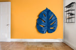 3D blue tropical leaves wall mural wallpaper 102