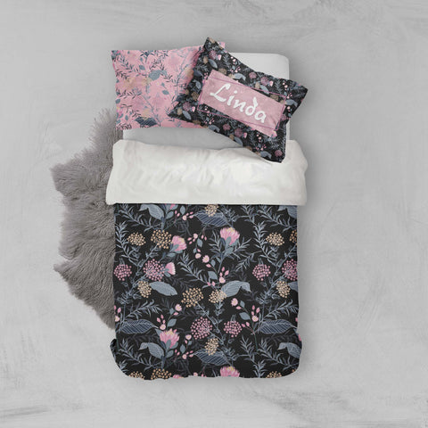 3D Pink Flowers Quilt Cover Set Bedding Set Pillowcases 79