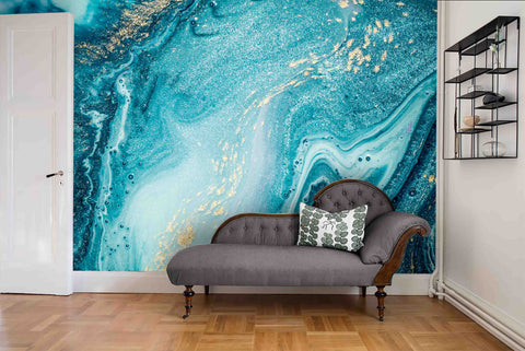 3D Abstract Blue Marble Wall Mural Wallpaper 33 - Jessartdecoration