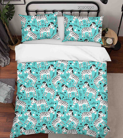 3D Hand Drawn Animal Zebra Quilt Cover Set Bedding Set Duvet Cover Pillowcases 72