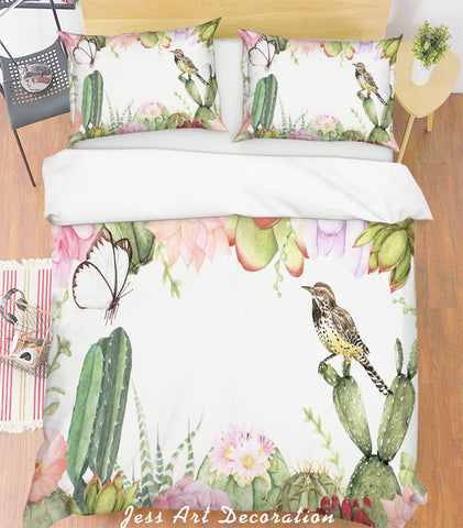 3D Watercolor Cactus Quilt Cover Set Bedding Set Pillowcases 171
