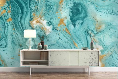 3D blue abstract marble texture wall mural wallpaper 24