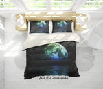 3D Night Moon Quilt Cover Set Bedding Set Pillowcases 30