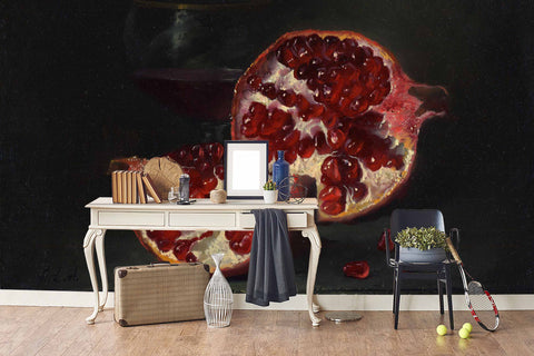 3D Pomegranates Oil Painting Wall Mural Wallpaper SF32