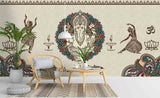 3D Abstract Elephant Idol Pattern Wall Mural Wallpaper 99