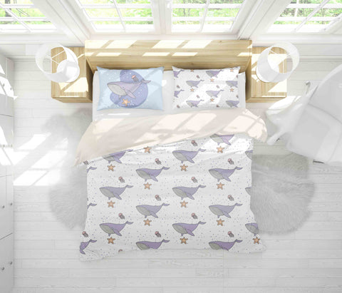 3D Shark Starfish Jellyfish Quilt Cover Set Bedding Set Pillowcases 16