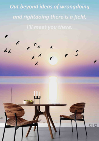 3D Motto Seagull Sea View Painting Mural Wallpaper WJ 1328