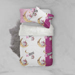 3D Cartoon Caticorn Unicorn Moon Quilt Cover Set Bedding Set Pillowcases 44