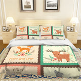 3D Cartoon Animal Quilt Cover Set Bedding Set Pillowcases 48