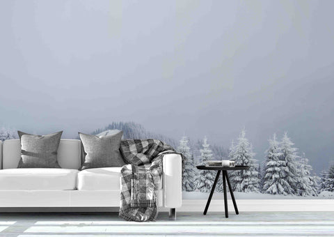 3D Great Winter Carpathian Mountains Snow Covered Wall Mural Wallpaper 32