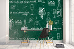 3D Wine Glass Wall Mural Wallpaper 1