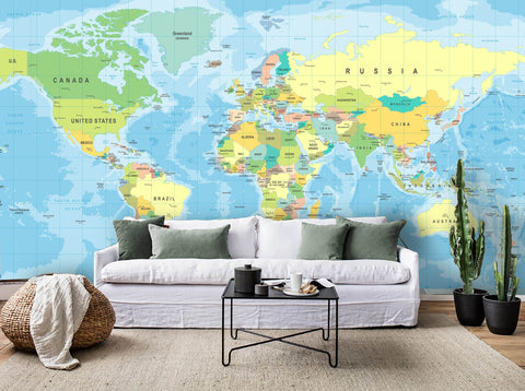 3D Color Map Wall Mural Wallpaper 50