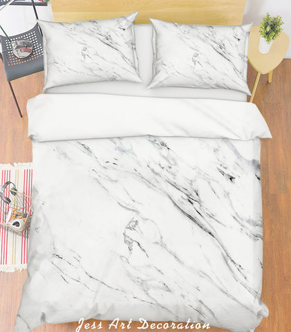 3D Grey Marble Quilt Cover Set Bedding Set Pillowcases 182