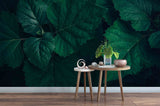 3D Green Leaves Wall Mural Wallpaper 2