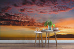 3D Beach Sunset Wall Mural Wallpaper 13