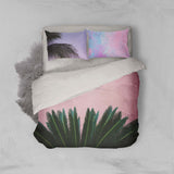 3D Pink Leaves Quilt Cover Set Bedding Set Pillowcases 48