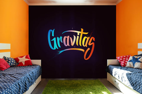 3D Colorful Slogan Black Background Wall Mural Wallpaper 269