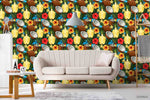 3D Oil Painting Colorful Floral Leaves Plant Wall Mural Wallpaper LXL 1351