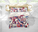 3D Square Floral Geometric Quilt Cover Set Bedding Set Pillowcases 14