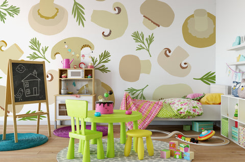 3D Brown Mushroom Wall Mural Wallpaper 120