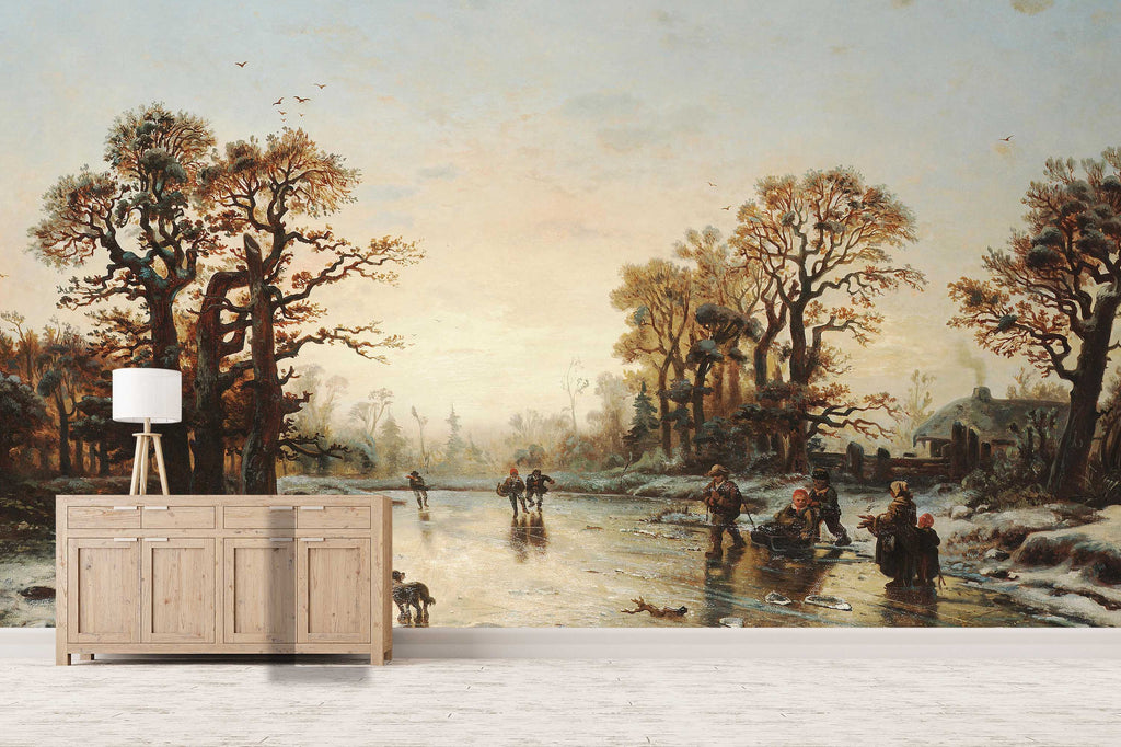 3d Tree River Landscape Oil Painting Wall Mural Wallpaper 30