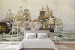 3D sailing boat oil painting wall mural wallpaper 14