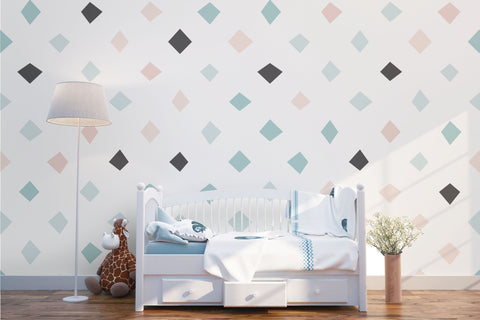 3D Green Square Wall Mural Wallpaper 21