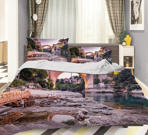 3D Bridge Landscape Quilt Cover Set Bedding Set Pillowcases 125