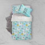 3D White Alpaca Cactus Quilt Cover Set Bedding Set Pillowcases 53