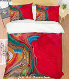 3D Red Art Pattern Quilt Cover Set Bedding Set Pillowcases 239