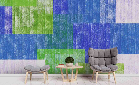 3D Blue Green Board Wall Mural Wallpaper 81