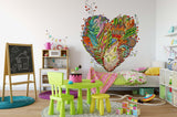 3D Colorful Feather Love Wall Mural Wallpaper 23