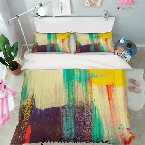 3D Colorful Paint Quilt Cover Set Bedding Set Pillowcases 29
