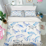 3D Blue Whale Quilt Cover Set Bedding Set Pillowcases 52