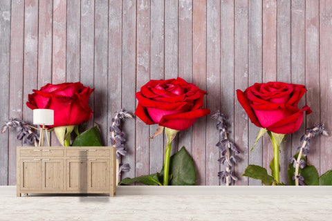 3D red rose flowers background wall mural wallpaper 40