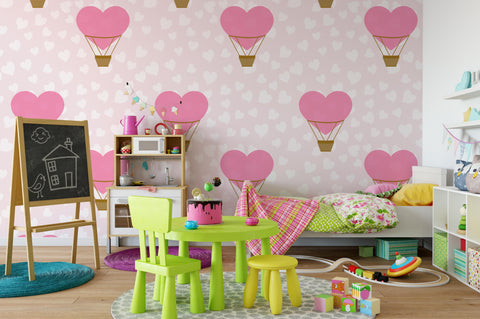 3D Pink Love Balloon Wall Mural Wallpaper 99