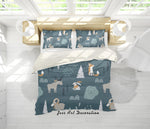 3D Forest Animals Quilt Cover Set Bedding Set Pillowcases 08