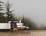 3D Fog Pine Forest Wall Mural Wallpaper SF99
