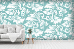 3D floral leaves wall mural wallpaper 48
