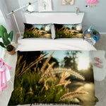 3D Sunset Bristlegrass Quilt Cover Set Bedding Set Pillowcases 70