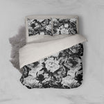 3D Grey Flowers Quilt Cover Set Bedding Set Pillowcases 13