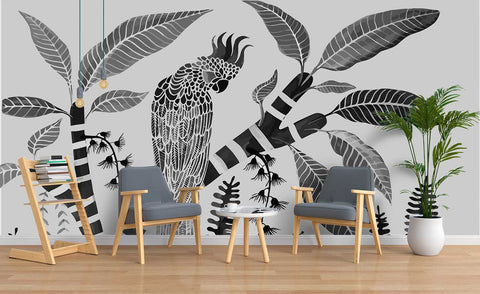 3D Parrot Wall Mural Wallpaper SF26