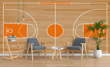 3D Basketball Court Wall Mural Wallpaper 51
