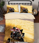 3D Sand Motorcycle Quilt Cover Set Bedding Set Duvet Cover Pillowcases LXL 240