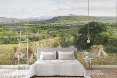 3D green fields oil painting wall mural wallpaper 60