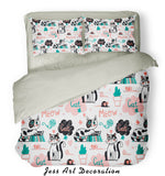 3D Black White Cat Pattern Quilt Cover Set Bedding Set Pillowcases  79