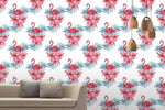 3D Oil Painting Floral Flamingo Wall Mural Wallpaper LXL 1397